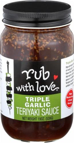 Rub with Love Triple Garlic Teriyaki Sauce Perspective: front