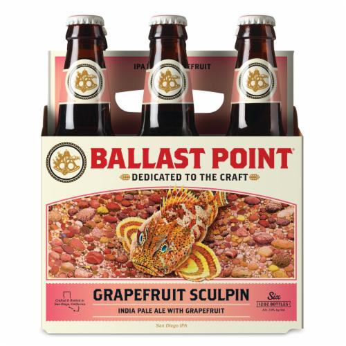 Ballast Point Grapefruit Sculpin Craft Beer Perspective: front