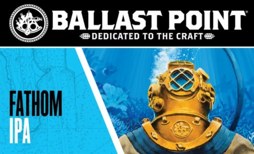 Ballast Point Fathom IPA Craft Beer Perspective: front