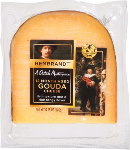 Dutch Masterpiece Rembrandt Extra Aged Gouda Perspective: front