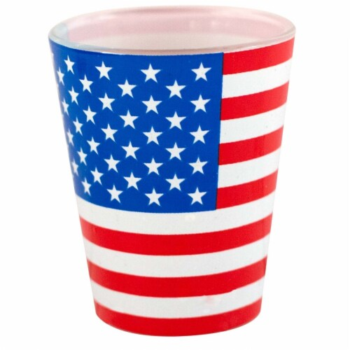 Patriotic 38751 American Flag Shot Glass Perspective: front