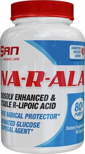 San  Na-R-ALA Alpha Lipoic Acid Perspective: front