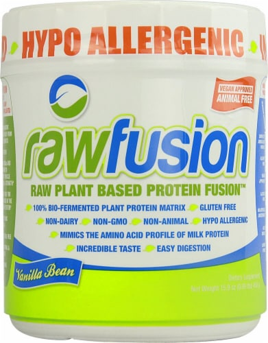 San Rawfusion Plant Base Protein Fusion™ - Vanilla Bean Perspective: front