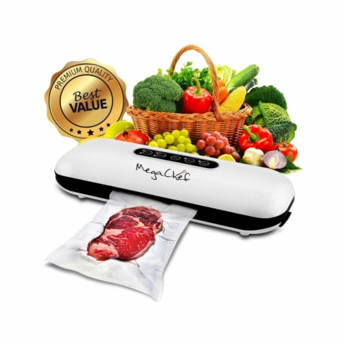 Megachef MCVS100 Home Vacuum Sealer & Food Preserver with Extra Bags Perspective: front