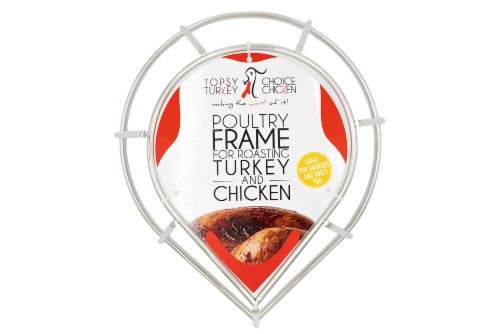 Topsy Turkey/Choice Chicken Roaster Rack Roasting and Grilling Perspective: front