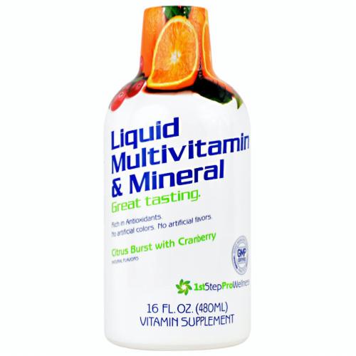 1st Step for Energy Liquid Multi-Vitamin & Mineral Citrus Burst, 16 Fl Oz Perspective: front