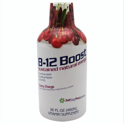 High Performance Fitness, Inc. 1st Step Liquid B-12, Cherry Charge, 16 Fl Oz Perspective: front