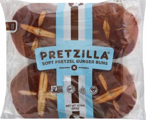 Pretzilla Soft Pretzel Burger Buns Perspective: front