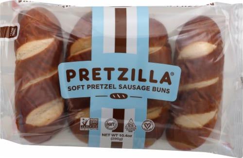 Pretzilla Soft Pretzel Sausage Buns Perspective: front