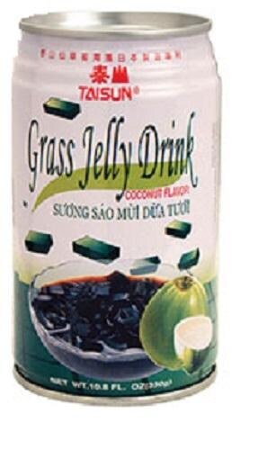 Taisun Coconut Flavor Grass Jelly Drink Perspective: front