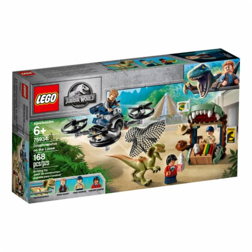 LEGO® Jurassic World Dilophosaurus on the Loose Perspective: front