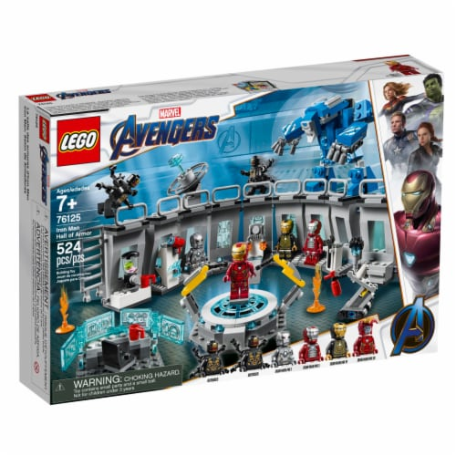 LEGO® Marvel Avengers Iron Man Hall of Armor Building Toy Set Perspective: front