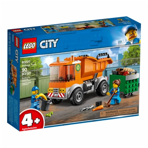 LEGO® City Garbage Truck Building Toys Perspective: front