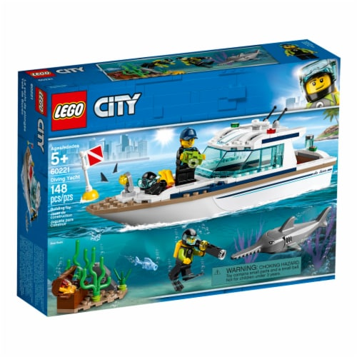 LEGO® City Diving Yacht Building Toys Perspective: front