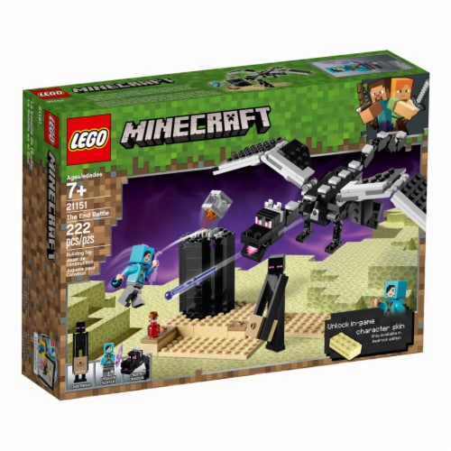 LEGO® Minecraft The End Battle Building Set Perspective: front