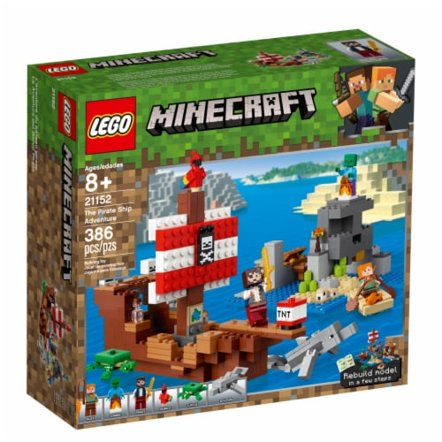 LEGO® Minecraft The Pirate Ship Adventure Building Set Perspective: front