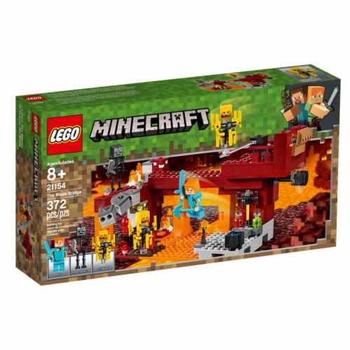 LEGO Minecraft™ The Blaze Bridge Building Set Perspective: front