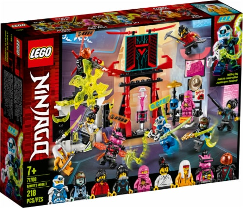 LEGO® NINJAGO® Gamer's Market Building Toy Perspective: front