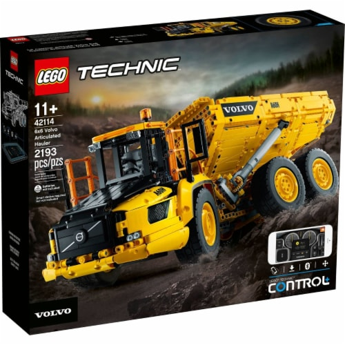 LEGO LEGO Technic 6x6 Volvo Articulated Hauler - 42114 - Control + App Perspective: front