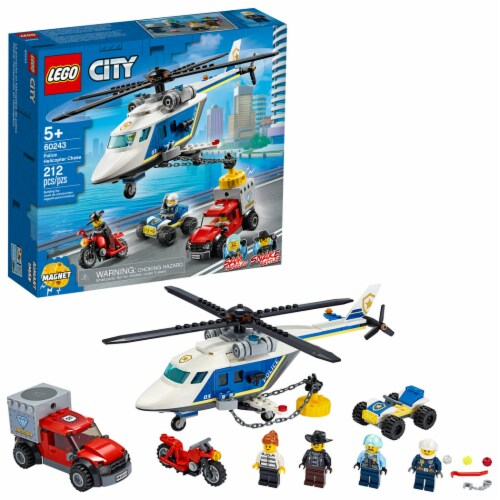 LEGO® Police Helicopter Chase Building Toy Perspective: front