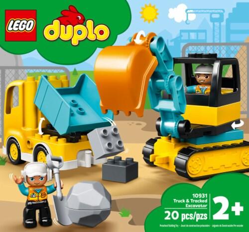 10931 LEGO® Duplo Truck & Tracked Excavator Perspective: front