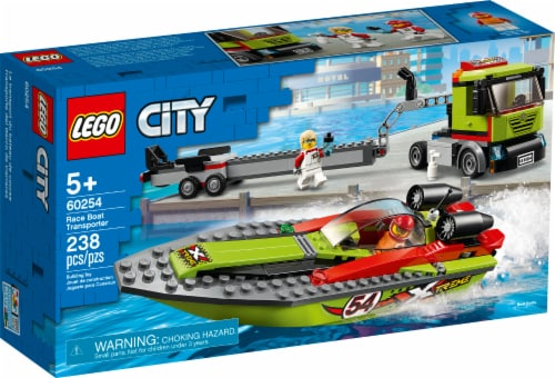 LEGO® Race Boat Transporter Building Toy Perspective: front