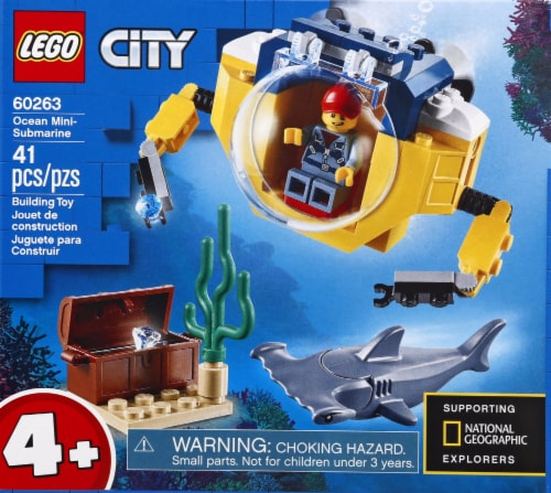LEGO® City Ocean Mini-Submarine Building Toy Perspective: front
