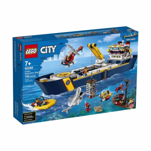LEGO® City Ocean Exploration Ship Building Set 60266 Perspective: front