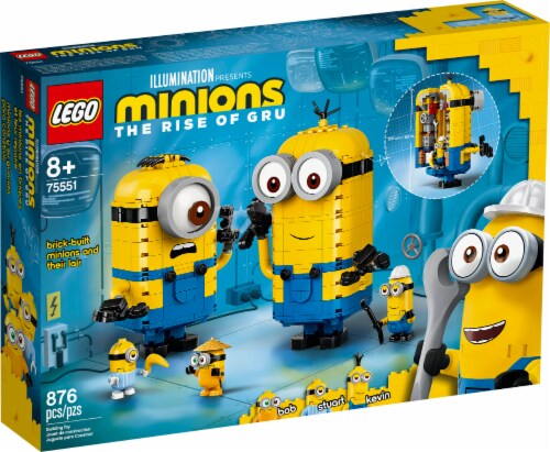 75551 LEGO® Minions Brick-Built Minions and Their Lair Perspective: front