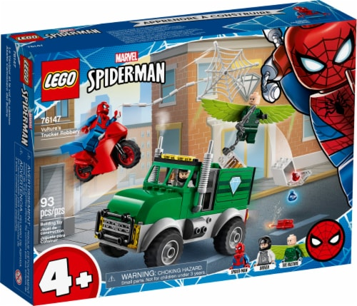 LEGO® Marvel Spiderman Vulture's Trucker Robbery Building Toy Perspective: front