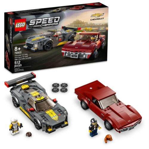 76903 LEGO® Speed Champions Chevrolet Corvette C8.R Race Car and 1968 Chevrolet Corvette Perspective: front