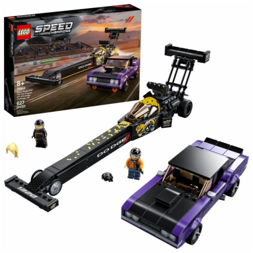 LEGO® Dodge Speed Champions Building Set Perspective: front