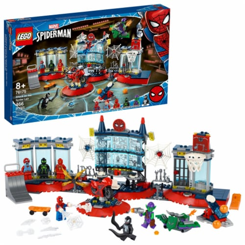 76175 LEGO® Marvel Spiderman Attack on the Spider Lair V39 Perspective: front