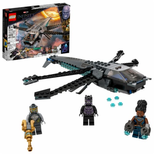 LEGO® The Infinity Saga Black Panther Dragon Flyer Building Set Perspective: front
