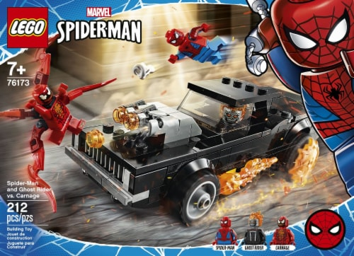 76173 LEGO® Spider-Man and Ghost Rider vs. Carnage Building Set Perspective: front