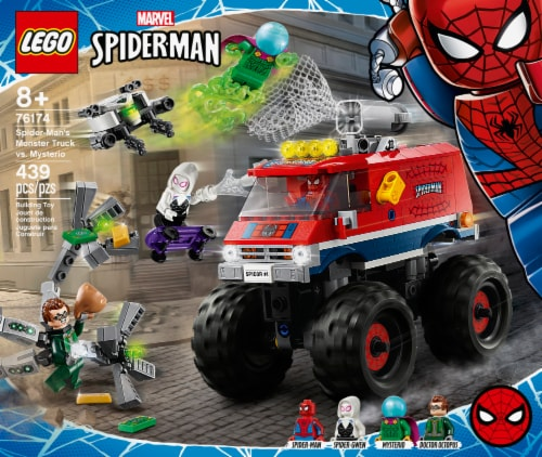 76174 LEGO® Spiderman Spider-Man's Monster Truck vs. Mysterio Perspective: front