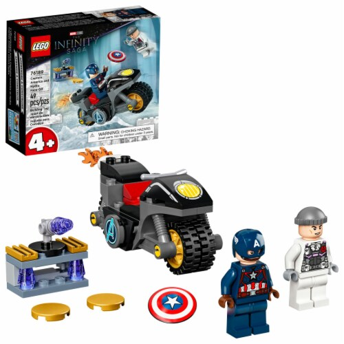 76189 LEGO® Marvel Avengers Captain America And Hydra Face-Off Building Set Perspective: front