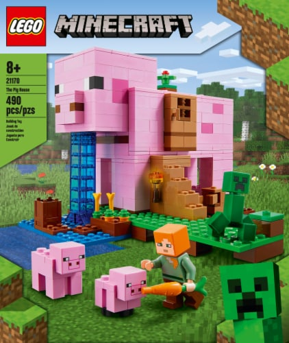 21170 LEGO® The Pig House Minecraft Set Perspective: front