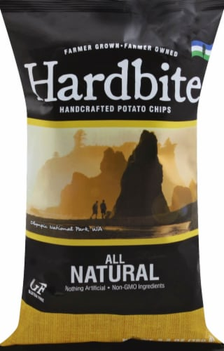 Hardbite Natural Kettle Potato Chips Perspective: front