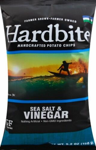 Hardbite Rock Salt & Vinegar Kettle Chips Perspective: front