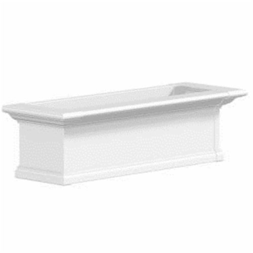 Mayne 4823W Yorkshire 3 Foot Window Box - White Perspective: front