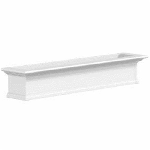 Mayne 4825W Yorkshire 5 Foot Window Box - White Perspective: front