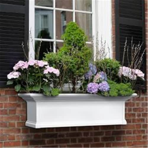 Mayne 8827-W 7 ft. Yorkshire Window Box, White Perspective: front
