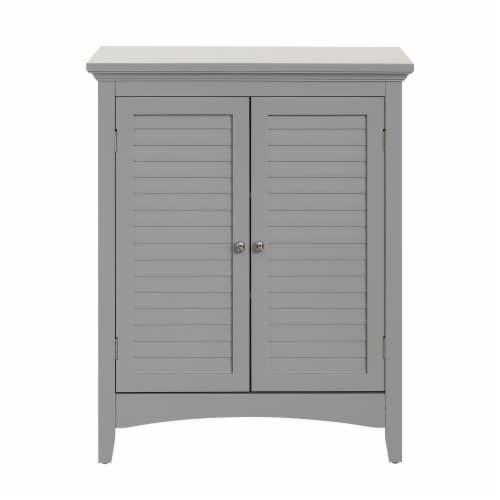 Elegant Home Fashions Bathroom Floor Cabinet & Adjustable Shelves Grey ELG-641 Perspective: front