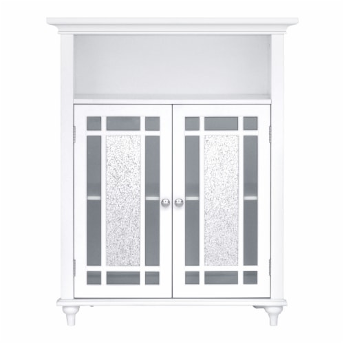 Elegant Home Fashions Wooden Bathroom Floor Cabinet Doors Windsor White ELG-529 Perspective: front