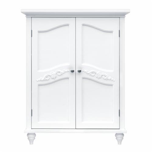 Elegant Home Fashions Wooden Bathroom Floor Cabinet White Versailles ELG-550 Perspective: front