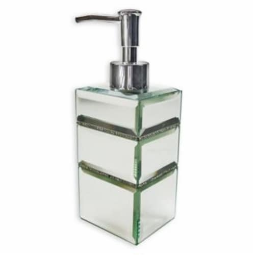 Elegant Home Fashions Bathroom Hand Lotion Dispenser Pump Mirrored Leah AC5804 Perspective: front