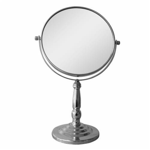 Elegant Home Fashions Bathroom Magnifying Mirror Freestanding Silver SM-C09 Perspective: front
