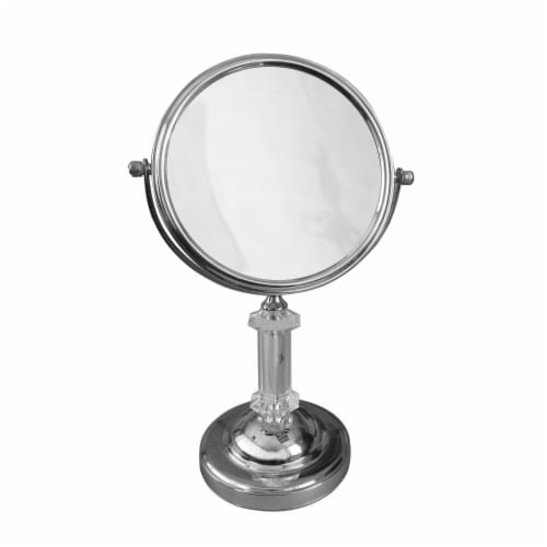 Elegant Home Fashions Bathroom Table Magnifying Mirror Standing Chrome SM-DY7817 Perspective: front