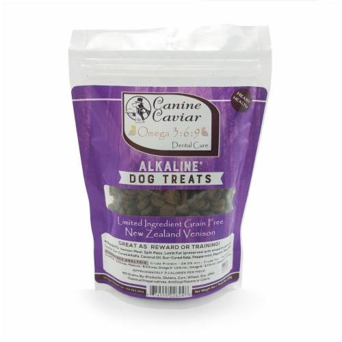 Canine Caviar 226248 Pet Foods Omega 3 - 6 - 9 Treats Venison 9 oz Bag Perspective: front